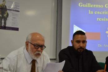 Edmuno Farolán lee la ponencia de Andrea Gallo.